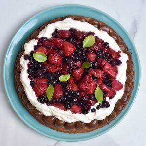 Brownie blanco con Frutos rojos XXL